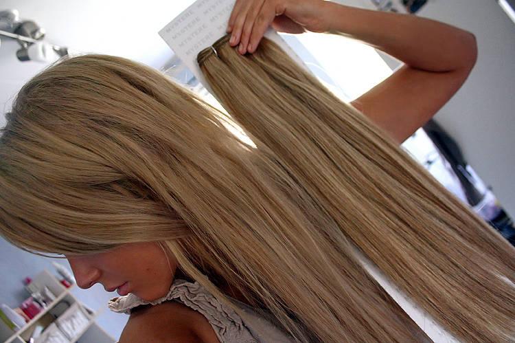 Как сделать пряди из натуральных волос